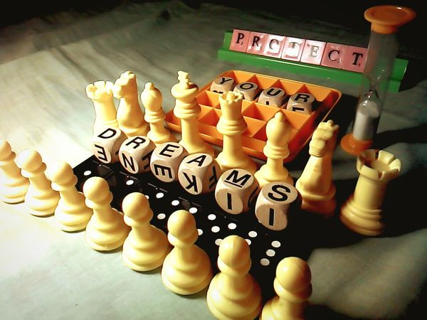 protect your dreams Dreams Words Of Wisdom... Chessboard Scrabble Boggle Dominoes