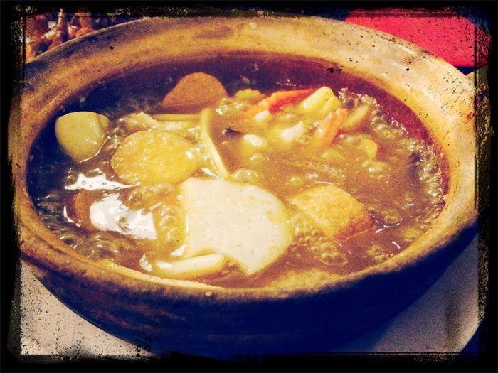 Claypot Dinner Enjoying A Meal