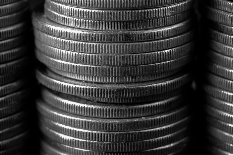 The Week On EyeEm Money Money Money Money Monochrome Repetition Finance Wealth Stack Coin Metal Savings Currency Industry Close-up Saudi Arabia Textured  Lifestyles
