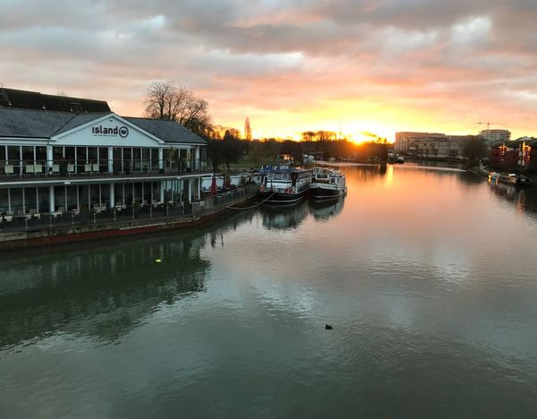 View from Caversham Bridge, Reading Landscape Sunrise Moody Auspicious Outdoors Clouds Cloudy Outdoor Nature River Thames