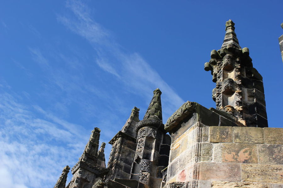 Ancient Architecture Building Exterior Built Structure City Clear Sky Cultures Day Edinburgh History Medieval No People Outdoors Place Of Worship Religion Rosslyn Chapel Scotland Sky Travel Destinations