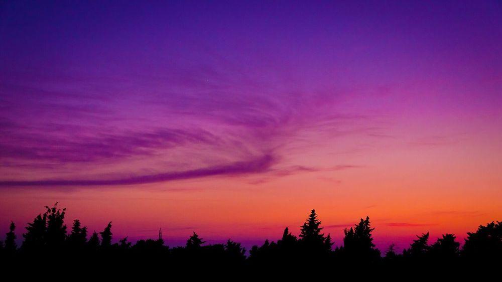 Sunset Tramonto Silhouette Sicily