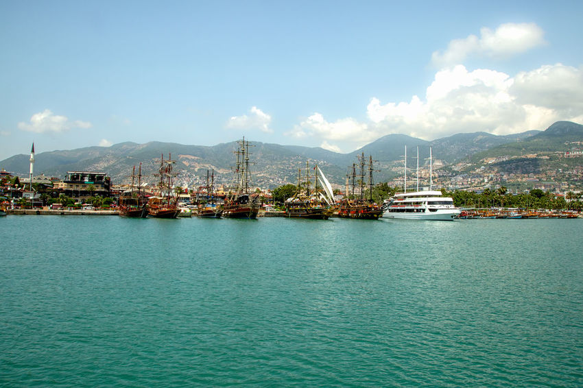 Alanya Harbor Alanya Mediterranean  Mediterranean Sea Turkey Vacation Time Architecture Beauty In Nature Built Structure Cloud - Sky Emerald Green Emeraldcoast Harbor Mode Of Transportation Mountain Nature Nautical Vessel Sea Shoreline Sky Transportation Travel Destinations Turquoise Colored Vacation Destination Water Waterfront