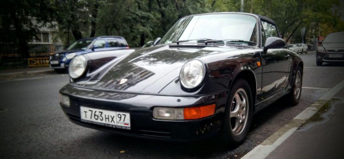 Porsche 911 Convertible Car Light And Shadow Moscow
