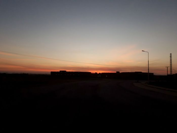 Moody Sky Evening Sunset Silhouette Road Sky Landscape Capture Tomorrow