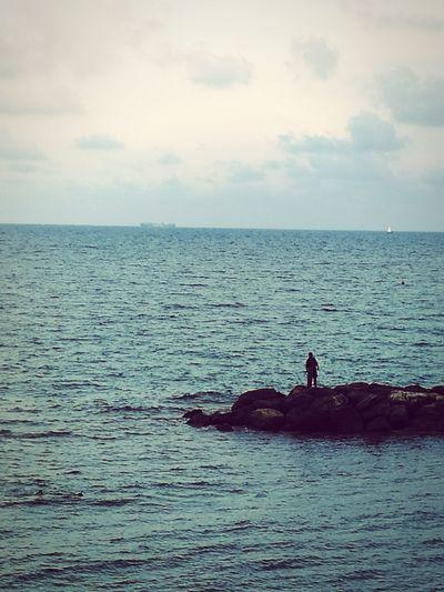 Sea Sea Life Sea View Man And Sea Italy HuaweiP9 Oo