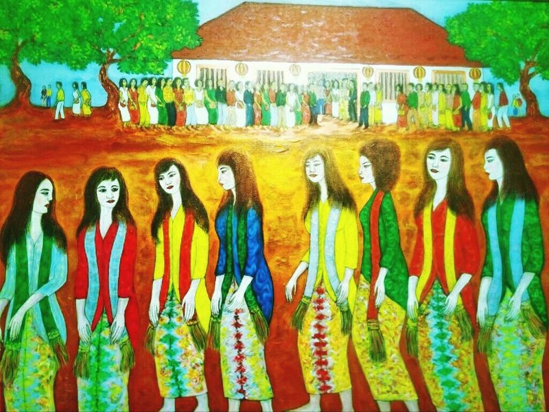 From the National Gallery (3) Art Contemporary Contemporary Art Painting Women INDONESIA Indonesian Girls Females Hanging Out Lukisan Pameran Galeri Nasional National Gallery Of Art National Gallery  Jakarta Exhibition