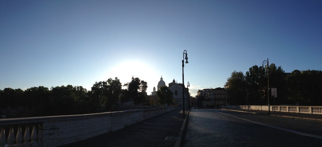 Alba Architecture Bridge Building Exterior Built Structure Cavour Cavourbridge Clear Sky Day Nature No People Outdoors Pontecavour Railing Road Sky Street Light Sunrise The Way Forward Transportation Tree