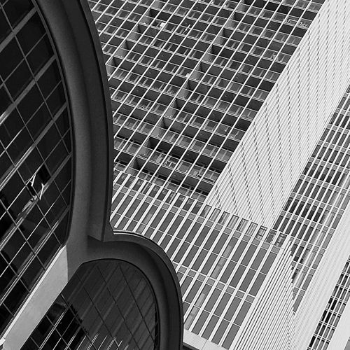 Low Angel View Of Modern Building