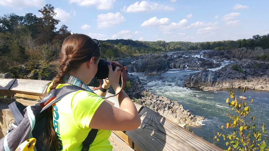 Had to get someone to capture me capturing all of God's beautiful creation! Greatfalls Virginia That's Me Cheese! Check This Out Hello World Nikonphotography Enjoying Life Nature Photography