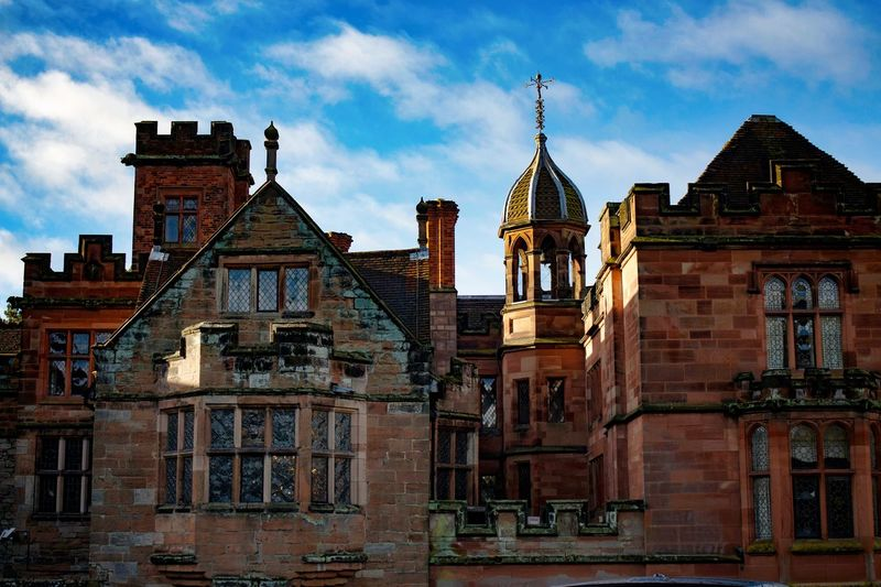 Historical Building Mansion House New Hall Hotel Sutton Coldfield Architecture Building Building Exterior Building With Sky Built Structure Cloud - Sky Day Daylight History Houses And Windows No People Outdoors Rooftop View  Rooftops Sky Stately Home Tower Travel Destinations Windows