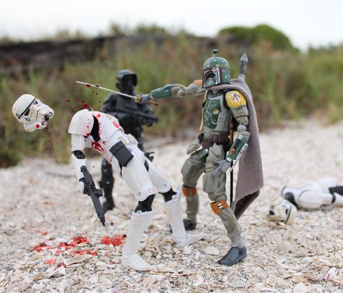 """The supreme art of war is to subdue the enemy without fighting."" - Sun Tzu, The Art of War... I don't think Boba Fett quite agrees! 😂😂😂 Starwarstoys Starwarstoyfigs Starwarstoypics Hasbro HasbroToyPic Swfotw Revoltechbobafett Toyonlocation Toyoutsiders Actionfigurephotography Toyphotography Toyartistry Stormtrooper Samurai Ronin Starwarsblackseries TBSFF Ohiotoykick Toptoyphotos Scouttrooper Toystagram Toyartistry_elite Rogue One Toycommunity Toycrewbuddies"
