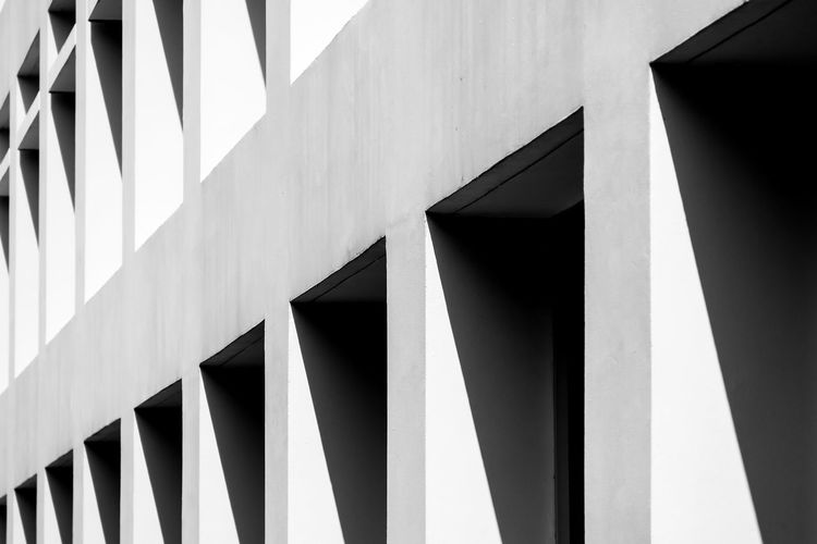 Built Structure Architecture Building Exterior Low Angle View No People Pattern Building Day Design Sunlight Full Frame Outdoors Shape Backgrounds Close-up Nature Shadow Modern Geometric Shape Architectural Feature Architectural Column Concrete