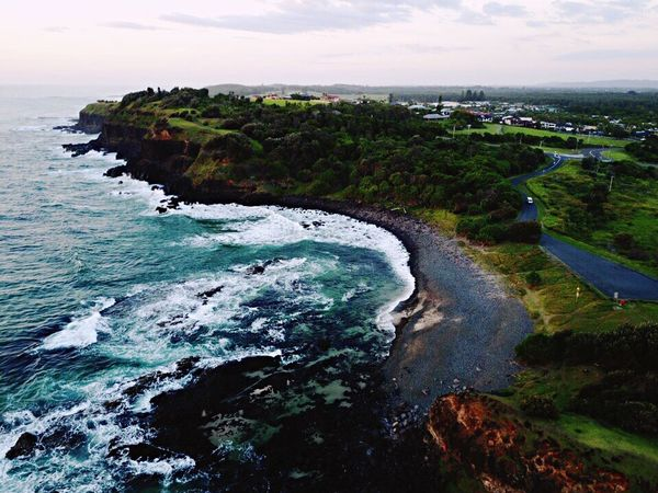 My happy place Sea Water Nature Beauty In Nature Outdoors Beach Drone  Day Summer Dronephotography Drones Photography Cliff
