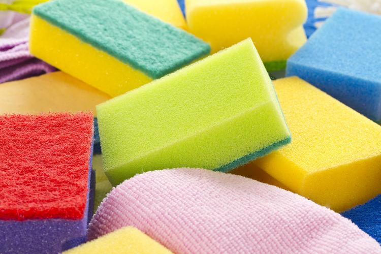 Close-Up Of Multi Colored Sponges