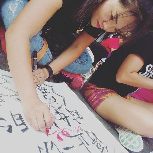 Bangkokrising International Women's Day OneBillionRising Poster Drawing The Photojournalist - 2016 EyeEm Awards The Street Photographer - 2016 EyeEm Awards