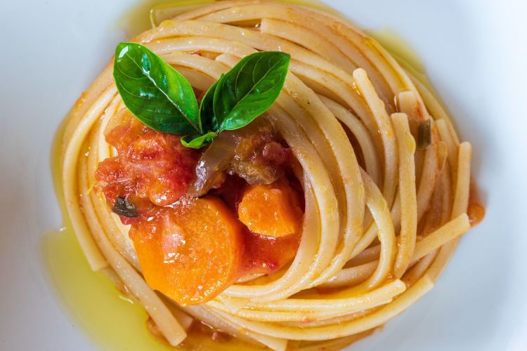 Pasta. Spaghetti with tomato and basil. Love of Italy Basil Cooking Cuisine Diet Love Mediterranean  Pasta Italiana Spaghetti Delicious Delicious Food Food Food Photography Gourmet Healthy Healthy Eating Healthy Food Italian Italian Food Italian Style Italy Nobody Pasta Sauce Tomato Traditional