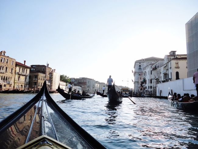 Neighborhood Map Canal Architecture Gondola - Traditional Boat Building Exterior Nautical Vessel Transportation Built Structure Water Day Outdoors Travel Destinations Gondolier Clear Sky City Sky One Man Only People Italy Venezia Canalgrande