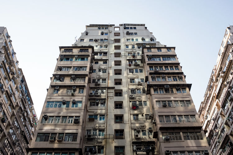 Hong Kong Architecture Apartment Architecture Balcony Building Building Exterior Built Structure City City Life Clear Sky Day In A Row Low Angle View Nature No People Outdoors Residential District Sky Tall - High Window