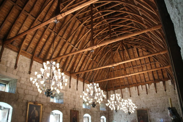 Architecture Low Angle View Built Structure Ceiling Indoors  Hanging No People Day