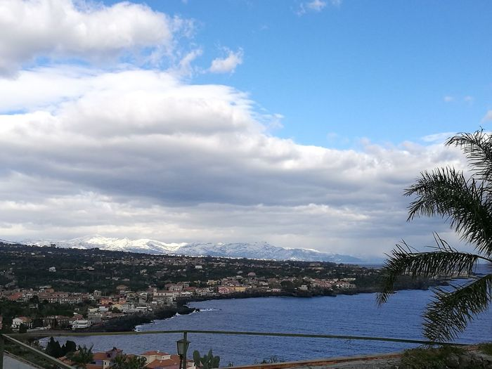 Blue Cityscape Water Sky Sea Nature Snow ❄ It Snows In Catania