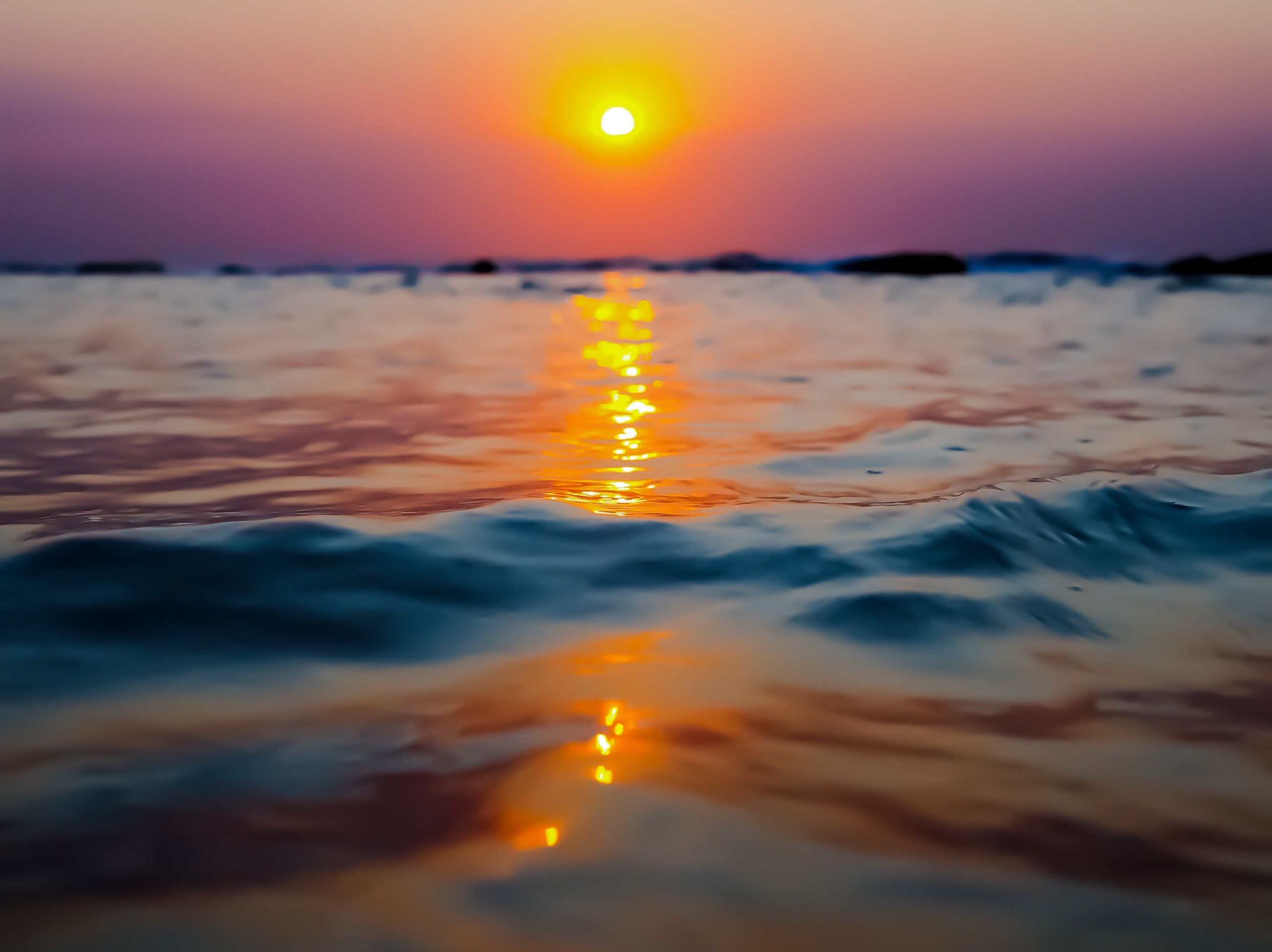 sunset, sky, water, beauty in nature, orange color, scenics - nature, sea, tranquility, idyllic, no people, cloud - sky, tranquil scene, nature, sun, waterfront, outdoors, motion, horizon over water, horizon, surface level