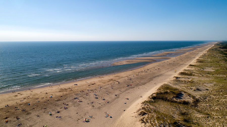 Aerial view of the wild Atlantic coast in La Tremblade, Charente Maritime, France Charente-Maritime France Panorama Wild Coast Aerial Photography Aerial View Beach Beauty In Nature Blue Côté Sauvage Dusk Horizon La Tremblade La Palmyre Land Nature Outdoors Scenics - Nature Sea Seascape Sky Sunset Tranquil Scene Travel Destinations Water