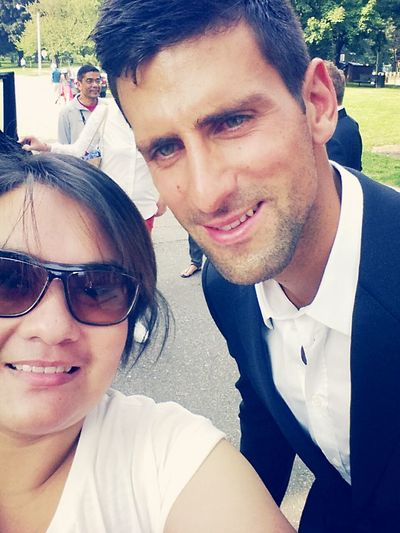 I rarely take selfies but when I do it's with Novak Djokovic! TeamNovak TeamDjokovic Selfie Novak Djokovic