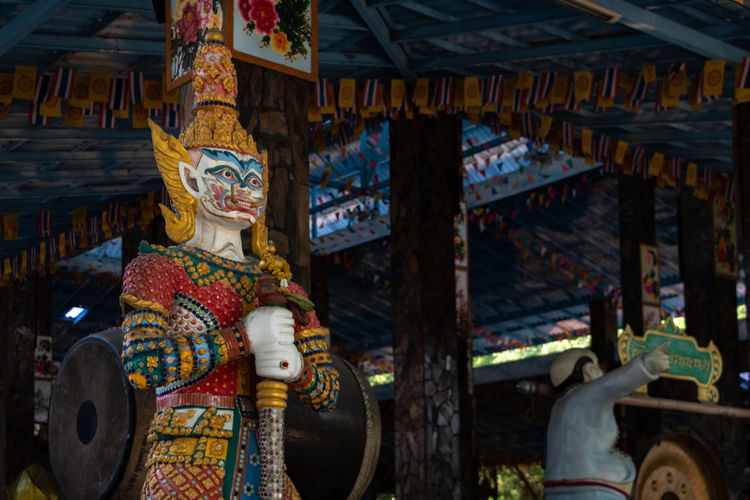Giant Culture Art And Craft Spirituality Creature Demon Thailand Thai Buddhist Temple Travel Colorful Decoration Thai Temple Asian  Guardian