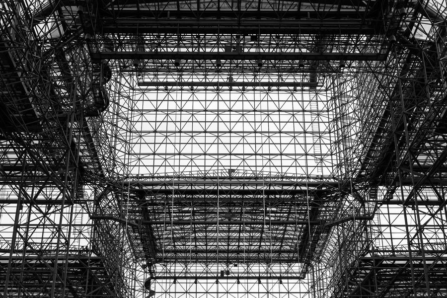 The Jacob K. Javits Convention Center in New York City. Photographed on a coffee break while shootin the International Contemporary Furniture Fair (ICFF) | May 14, 2016. Javits Center Architecture Black And White Blackandwhite Abstract Geometry Design Convention Center Exhibition Hall Dominick Mastrangelo Myfujifilm Fujifilm Fujifilm_xseries FUJIFILM X-T1