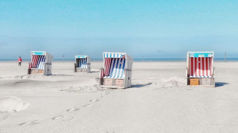 Hooded Beach Chairs On Beach