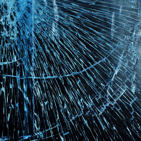 Black And Blue Blue Broken Glass Broken Window Close-up Day Fenster Fensterscheibe Gebrochenes Glas--2016 Glass Glass - Material No People Outdoors Safety Glass Sicherheitsglas Textured  Window