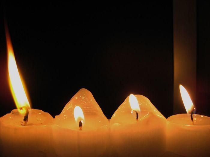 Burning Candle Candlelight Dark Flame Glowing Heat - Temperature Illuminated Light - Natural Phenomenon First Eyeem Photo