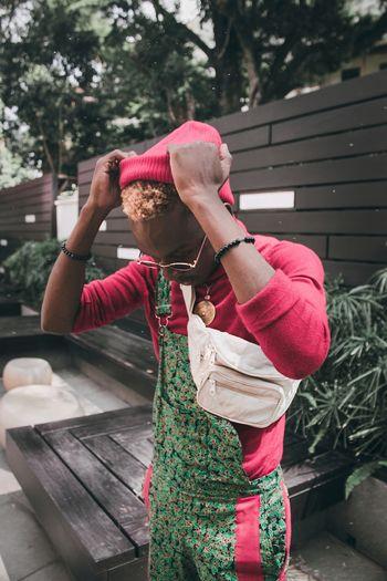 Boxing day 2018 vibe Africa Photography Fashion EyeEm EyeEm Best Shots Christmas Decoration Tree Standing Portrait Mid Adult Casual Clothing Fashion Model