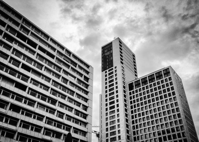 Architecture Berlin Berlin Photography Black And White Blackandwhite Blackandwhite Photography Building Exterior City Clouds Clouds And Sky Day Low Angle View Modern No People Outdoors Sky Skyscraper Skyscraper View Skyscrapercity Skyscrapers Skyscrapers In The Clouds West Berlin Zoo Zoo Station Berlin Zoologischer Garten Berlin