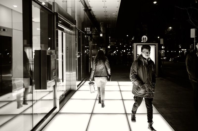 Real People Walking Full Length Store Lifestyles Architecture Retail  Night Men Built Structure Women Customer  Illuminated Two People Indoors  Building Exterior City People The Week On EyeEm From My Point Of View