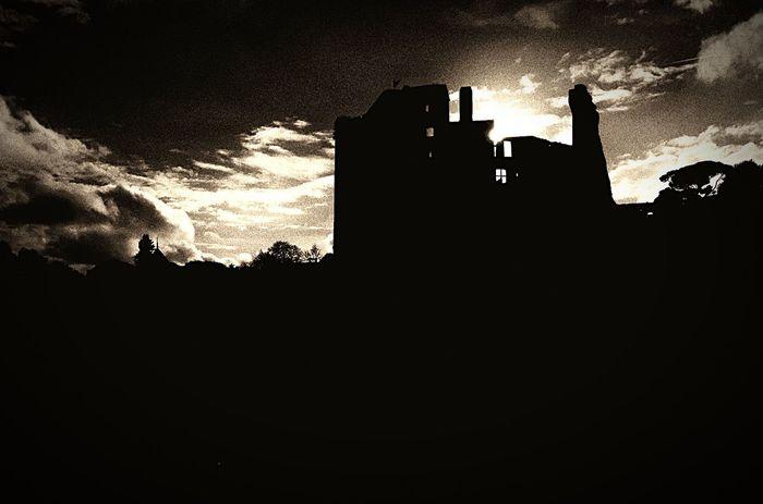 Castle Sun Clouds