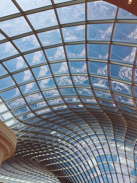 Futuristic architecture in the sky Chadstone Architecture Glass Ceiling Melbourne Chadstone Shopping Centre Modern Sky Built Structure