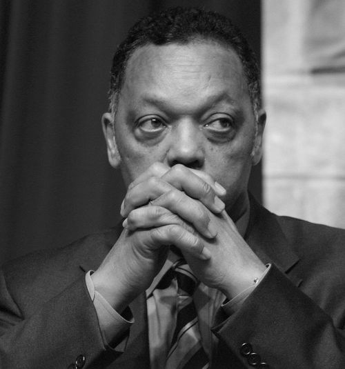 Jesse Jackson Icon civil rights Wall Street Summit black and white Monochrome Photography