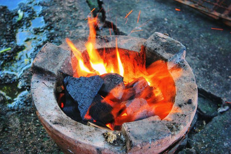 Burning Cooking