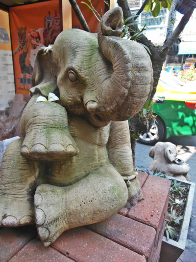 Animal Themes Bangkok Bangkok Life Chillin City Life City Lifestyle Cool Dude Elephant EyeEm Thailand No People One Animal Outdoors Relax Stone Sculpture Stone Statue