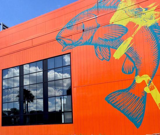 The Cowfish Universal Studios  IPhoneography Iphone6plus Orlando Florida Restaurant Bar Orange Orange By Motorola