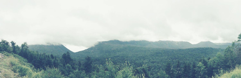 White Mountains Nature Green Fog Cloudy