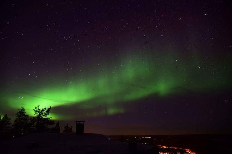 Northern Lights Finland Lapland Levi Kittilä Star Sky Night Night Photography Aurora Borealis Aurora First Eyeem Photo