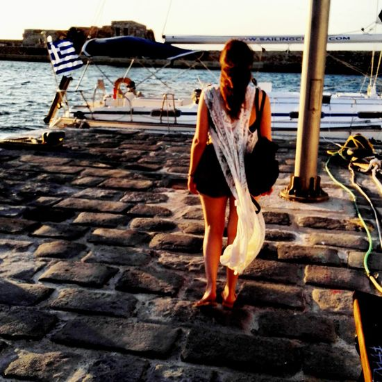 Crete Greece Chania Old Port Greek Summer Summerdays  EyeEmNewHere Women Around The World