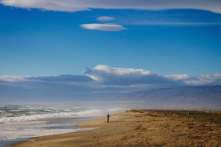 Beach Life Lifestyle Walking Alone... Landscape Nature Man Getting Inspired Connected With Nature Outdoors Sea And Sky Mediterranean  Andalucía Cabo De Gata Almería SPAIN Beach Nature Colors Waves Sea EyeEm Nature Lover Path Journey Travel Enjoying Life Walking On The Beach