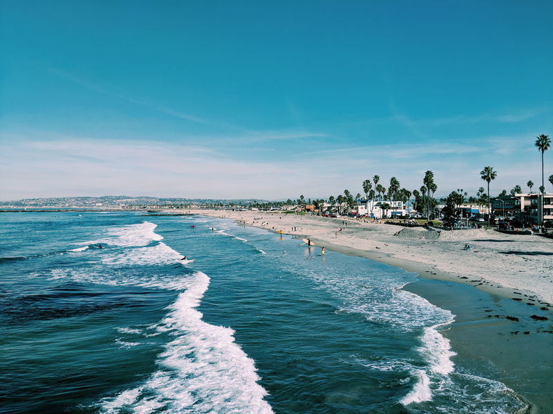 Surfing Beach Water Waves Beach Sea Sand Water Vacations Summer Sunny Outdoors Travel Destinations Blue Nature Day Sky Clear Sky Tranquility Scenics Landscape Horizon Over Water Beauty In Nature