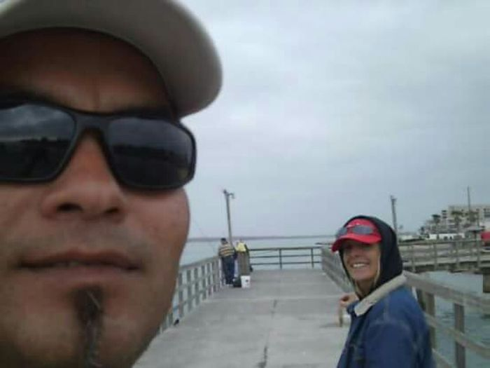 My Mo For Movember hes Acting Silly Cool Moment Pier Fishing Time