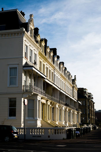 Brighton Architecture Brighton Architecture Brighton Uk Building Exterior Built Structure City Cloud - Sky Day No People Outdoors Regency Regency Architecture Residential Building Sky Terraced Houses Terraced Street Town Houses