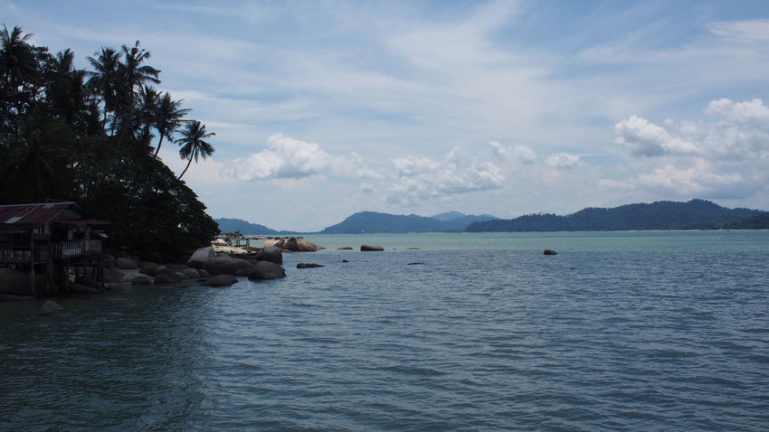 Tranquility view of blue ocean and blue sky on Pangkor Island, Malaysia Holiday Jet Boat Nature Ocean View Pangkor Island Beach Beauty In Nature Blue Blue Sky Blue Sky And Clouds Cloud - Sky Day Nature Nature_collection No People Ocean Outdoors Sand Scenics Sea Sky Tranquility Tree Water Waterfront